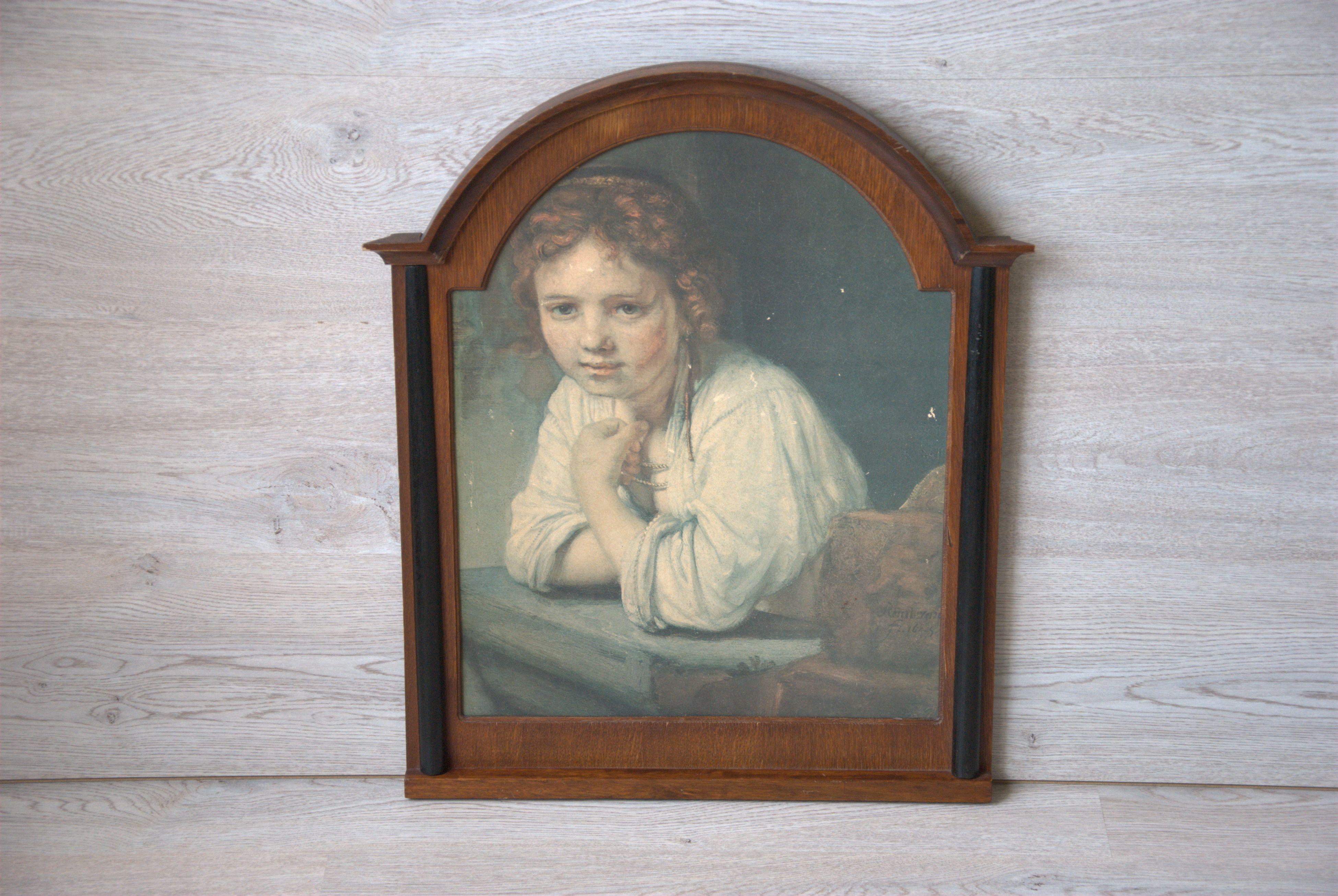 Print meisje in het venster - Rembrandt_04